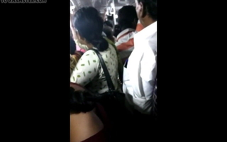 Big ass girl groped in Chennai crowded crammer