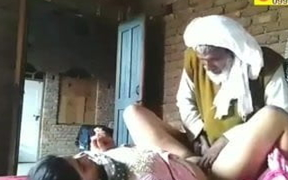 Old man and young girl have sex