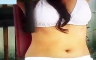Downcast girl nude in open gym