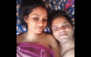 Honeymoon clamp makes sextape with clear Hindi audio