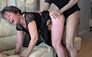 60 year old mature granny enjoyed dirty sexual intercourse with young dude