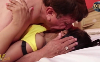 Old Man Making out Young Girl, Steamy SEX Scene