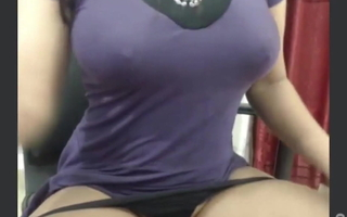 Indian X girl plays with dildo & shows her small tits