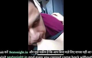 Desi Delhi explicit Riyaa has hot fuck with boyfriend in auto