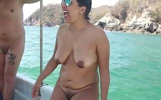 Indian birth nudist woman at lido