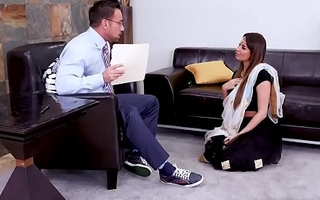 Hot Indian MILF Anissa Kate went to a mating counselor to ask some help with mating issues, the unpredictable intensify conselor cant thumb one's nose at but to fuck her pussy.