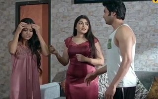 Indian hot Aunty has romance with young womanhood