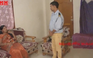 Indian aunty fucked with security boy