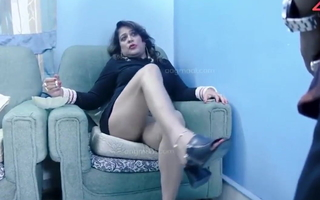 Indian BBW Bhabhi Takes Desi Cock and Licks Bawdy cleft