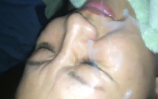 blowjob with cum on beautiful face