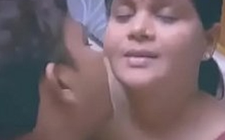 Fat Indian   Desi Lady With Junior Man