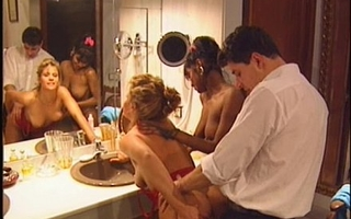 Swedish redhead with an increment of indian dreamboat in output 90s porn