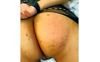 SLOW MOTION ASS SPANKING PUNISHMENT FOR INDIAN GIRLFRIEND IN FISHNETS WITH HANDS Pledged BEHIND FOR CHEATING TILL ASS IS COVERED WITH RED MARKS