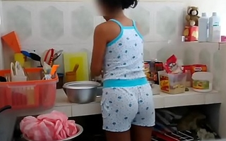 Real brother foreplay with stepsister within reach Kitchen