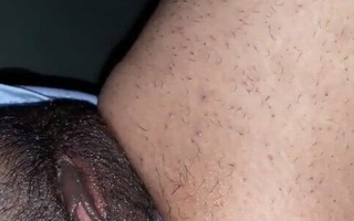 Indian desi wife at hand cucumber & cock in pussy
