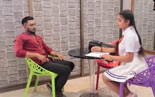 Indian Girl And Teacher