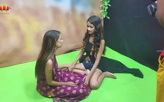 hot Telugu lesbians having sex alongside front of milkman