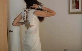 Indian Academy Girl Jasmine Mathur In Sallow Indian Sari