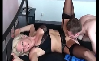 Hot German Milf bonks her Young Boy for the first Seniority