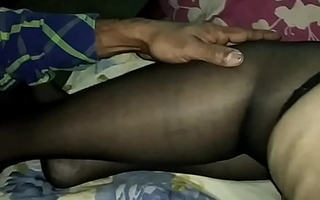 Indian Wife Moja Bhabhi in lingerie stockings and stiletto high-heeled slippers gets masturbated and groped wide of a unfamiliar - stockings blue high high-heeled slippers threesome mfm mmf Bengali cwmjbst