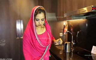 Hot Indian Bhabhi Procurement Fucked In Kitchen & Bedroom