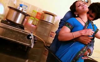 Anjali aunty titties and ass pressed