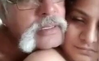 Indian age-old man with big cock