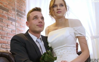 Extreme bride wife fucked be required of resources nearly front of husband