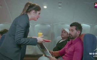 New Indian Flight Attendant Riding Passenger's Dick