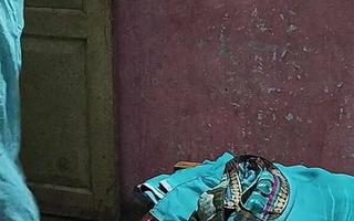 Indian hot Sheela aunty in bra and petticoat