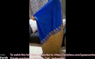 0Nasty Nurse Amma in Blue Saree (Tamil Content)