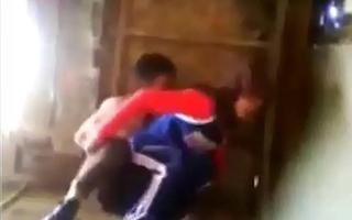 teen couple enjoying sex when parents absent