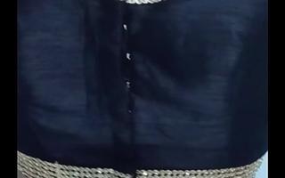 Indian crestfallen crossdresser Vanessa fro crestfallen blouse