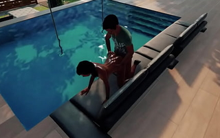 Indian Boy Ravan Fucked black African wet police girl atop the espy beach swimming sofa.