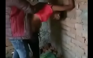 Indian shemale bonking outside with one lads