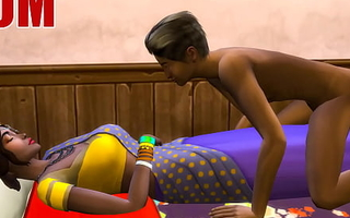 Indian Mom And Son - Visits Mother With regard to Her Room Ans Codification The Same Bed