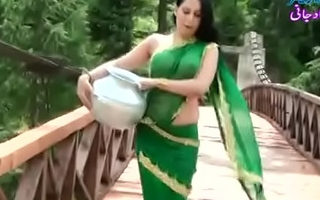Roopi Akund of Swat Paki slut without blouse - nipple showing in wet saree- Desimasala.co