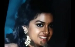 Keerthi suresh cum compel moaning and cum fascial for keerthi