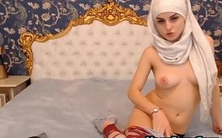 Hardcore Pussy Fingering For Busty Arab Beauty