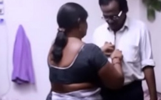 Indian aunty romance with her husband'_s friend.