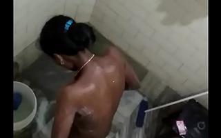 Tamil black mallu aunty hidden cam bath