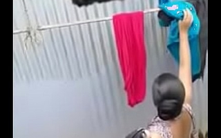 desi municipal teen captured bathing by neighbour horny boy