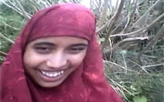 desi Bangla muslim Hijab stunner in forest