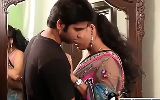 Indian hot teacher in pink bra and sari indigence violate youngsters -Adulteacher.com