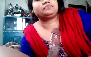 Indian Unpredictable intensify wife sucking cock