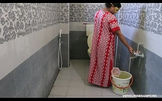 Low-spirited Hot Indian Bhabhi Dipinitta Taking Shower After Rough Lovemaking