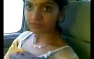 Cute desi bhabhi counterfeit opalescent breast adjacent to motor not far from follower groupie