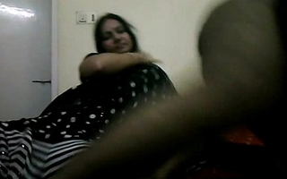 Tamil bhabhi in dark indian saree illustrious her h...