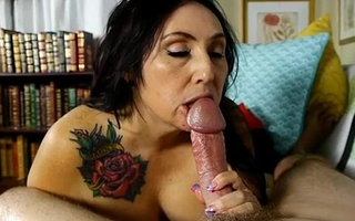 Big-busted cute bulky old spunker desires u wide cum in say no to face hole