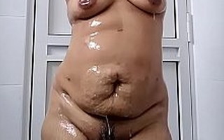 Indian Wife in bath